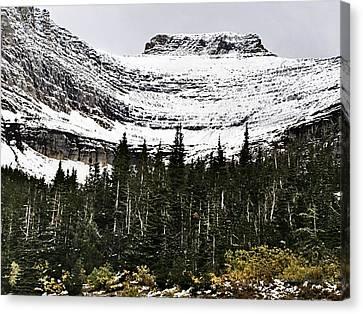Glacier Park Bowlrock Canvas Print by Susan Kinney