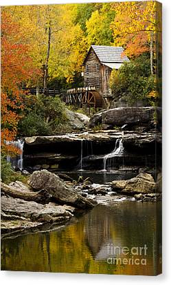 Glade Creek Grist Mill Canvas Print by Carrie Cranwill
