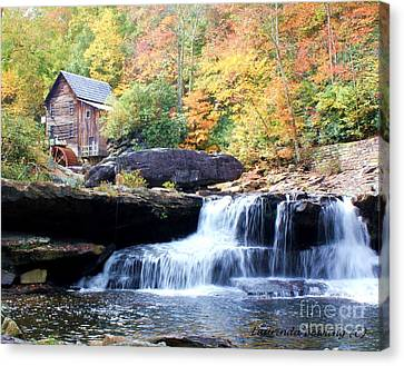 Glade Creek Grist Mill Canvas Print by Laurinda Bowling