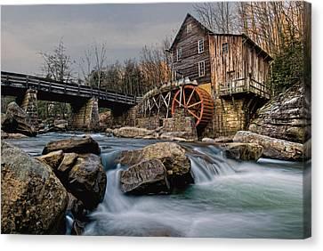 Glade Creek Grist Mill  Canvas Print by Wade Aiken