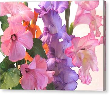 Gladiola Bouquet Canvas Print by Kathie McCurdy