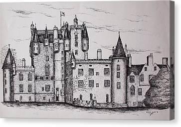 Glamis Castle Canvas Print by Sheep McTavish