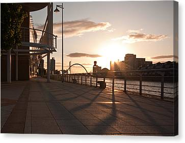 Glasgow Promenade Canvas Print by Tom Gowanlock