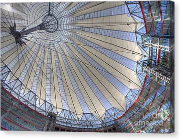 Glass And Steel Canvas Print by Heiko Koehrer-Wagner