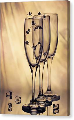 Canvas Print featuring the photograph Glass by Anna Rumiantseva