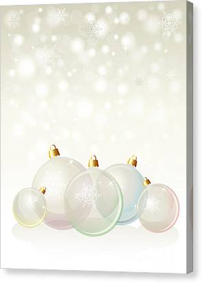Merry -go- Round Canvas Print - Glass Baubles Pastel by Jane Rix
