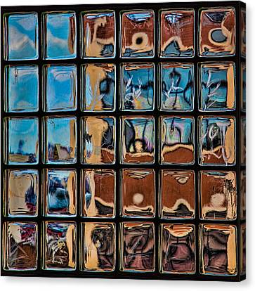 Glass Brick Abstract Canvas Print by Chris Lord