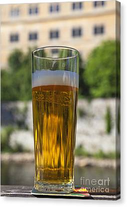 Glass Of Beer Canvas Print by David Buffington
