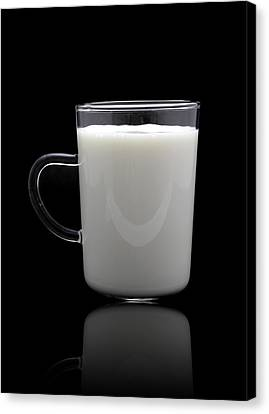 Glass Of Milk  Canvas Print by Natthawut Punyosaeng