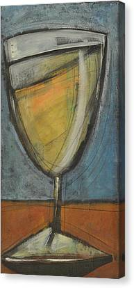 Glass Of White Canvas Print