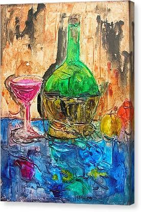 Canvas Print featuring the painting Glass Of Wine by Mary Kay Holladay