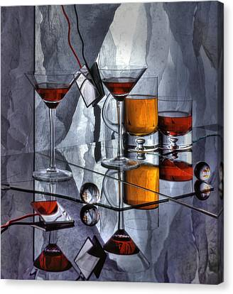 Glass Reflection Canvas Print by Ron Schwager
