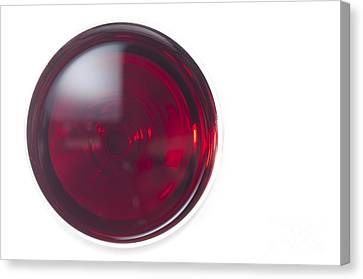 Glass With Red Wine Canvas Print by Mats Silvan