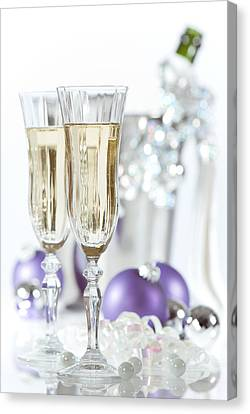 Glasses Of Champagne Canvas Print by Amanda Elwell