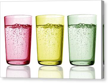 Glasses Of Water Canvas Print by Gombert, Sigrid