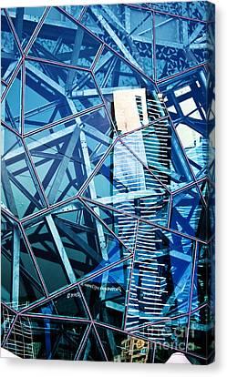 Glasshouse City Canvas Print by Andrew Paranavitana