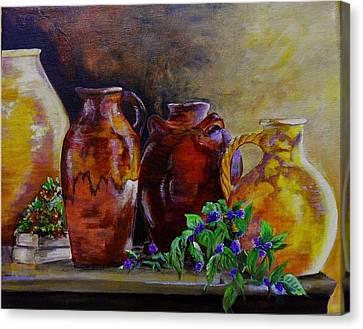 Glazed Pottery Canvas Print