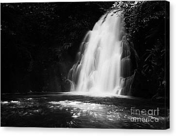 Gleno Or Glenoe Waterfall County Antrim Northern Ireland Canvas Print by Joe Fox