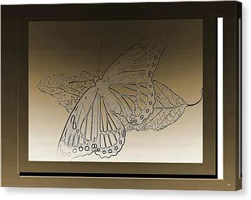 Glimmer Butterfly Collection Canvas Print by Debra     Vatalaro