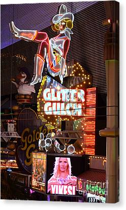 Glitter Gulch Las Vegas Canvas Print
