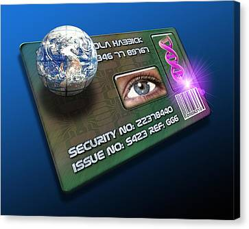 Global Id Card Canvas Print by Victor Habbick Visions