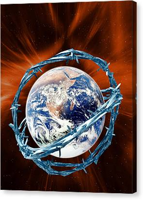 Geopolitics Canvas Print - Global Security by Victor Habbick Visions