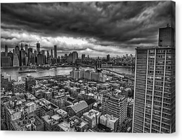 Gloomy New York City Day Canvas Print