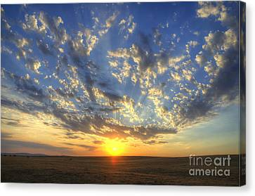 Glorious Sunrise Canvas Print by Jim and Emily Bush