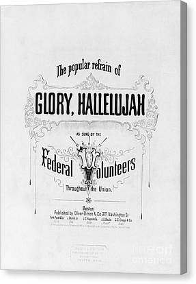 Glory, Hallelujah Canvas Print by Photo Researchers