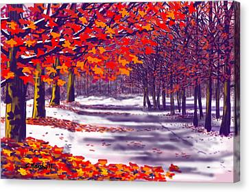 Glory Of Autumn Canvas Print