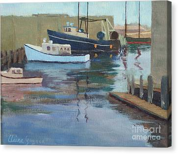 Gloucester Harbor Canvas Print by Claire Gagnon
