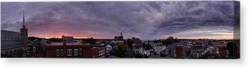 Gloucester Sunrise Panorama Canvas Print by Matthew Green