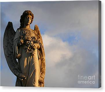 Canvas Print featuring the photograph Glowing Angel by Jeanne  Woods