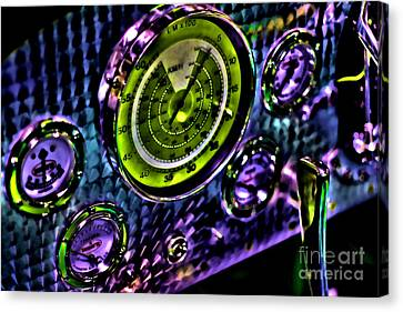 Glowing Gauges Canvas Print by Jason Abando