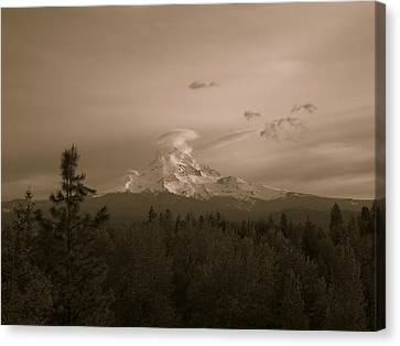 Glowing Mt. Hood Canvas Print by Melissa  Maderos