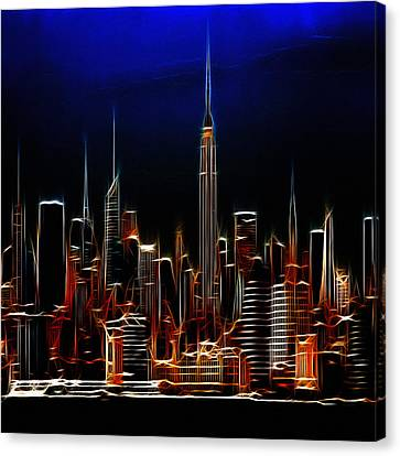 Glowing New York Canvas Print