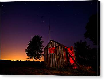 Glowing Shed Canvas Print by Cale Best