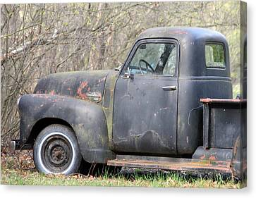 Canvas Print featuring the photograph Gmc Rusting At Rest by Mark J Seefeldt