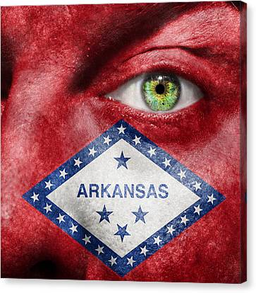 Go Arkansas  Canvas Print by Semmick Photo