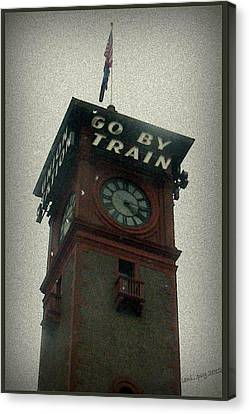 Go By Train Canvas Print