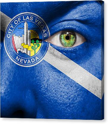 Go Las Vegas Canvas Print by Semmick Photo