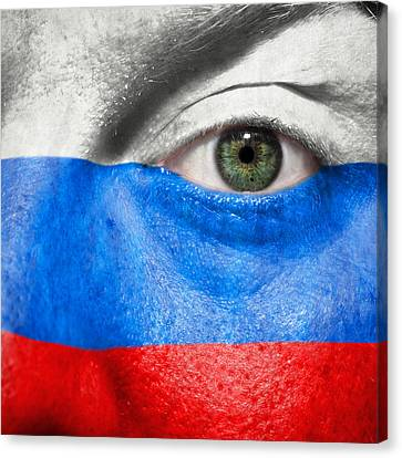 European Championship Canvas Print - Go Russia by Semmick Photo