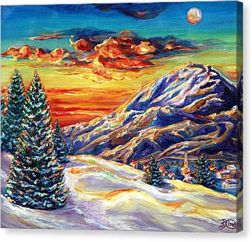 Go Tell It On The Mountain Canvas Print by Suzanne King