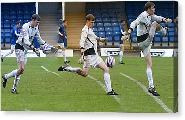 Goalkeeper Kicking Sequence Canvas Print by David Birchall