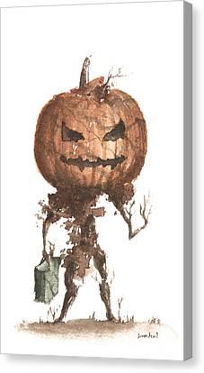 Goblin Tree Trick Or Treat Canvas Print by Sean Seal