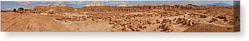 Goblin Valley With Potential Victims Canvas Print by Gregory Scott