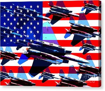 God Bless America Land Of The Free Canvas Print by Wingsdomain Art and Photography