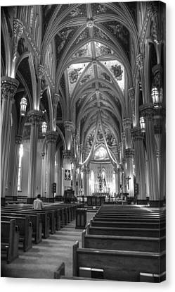 God Do You Hear Me Black And White Canvas Print by Ken Smith