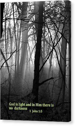 God Is Light Canvas Print by Rick Rauzi