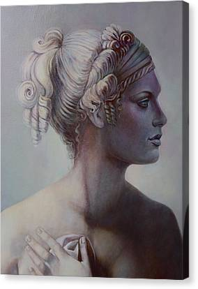 Goddess Detail Canvas Print by Geraldine Arata